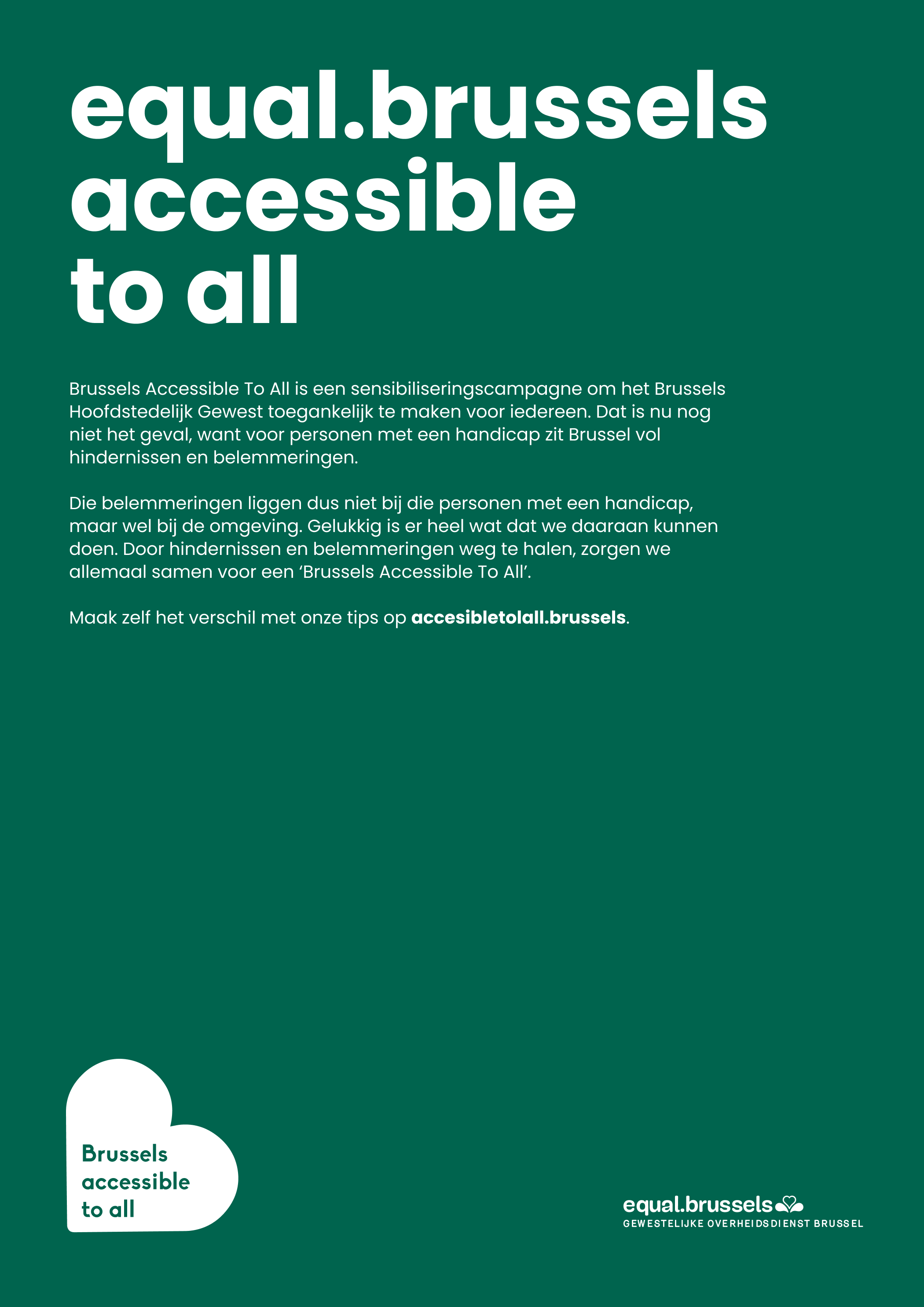 Brussels accesible to all poster